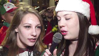 Hot reporter having fun with hot girls - Friends Having Fun