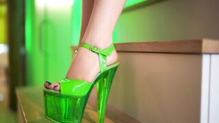 My Green High Heels in HD and slow motion... does this make you dream?