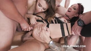 Lyna Cypher double anal squirting - High Mileage Holes