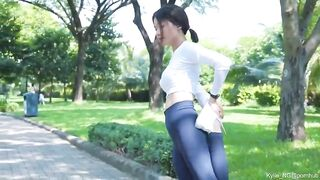 Daring Asian girl shows off [GIF} - Hold the Moan
