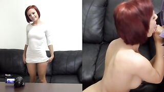 Redhead With A Tight Body Casting For A Career In Porn