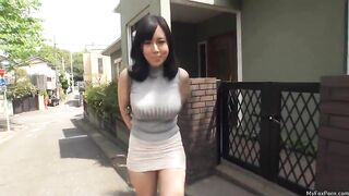 Shiori looking fine as hell in her tight mini skirt