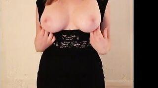 tight black dress - Home Grown Tits
