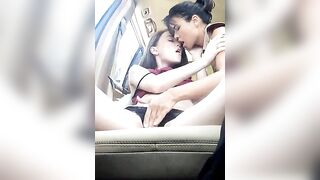 Stepmommy and daughter gets horny at road trip .. - Horny Alert