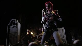 I let an AI Processor loose on that Linnea Quigley scene in The Return Of The Living Dead. 3840x2080 results in comments.
