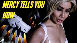 Mercy from Overwatch encourages you to jerk off