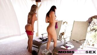 Lucky Guy Fucking Step-Mom and Girlfriend