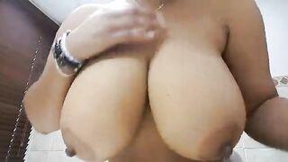 Big tits dark nipples - Huge Boobs