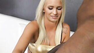 Cute white girl and long black dick - Interracial