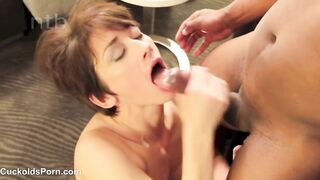 BBC cumming in her mouth