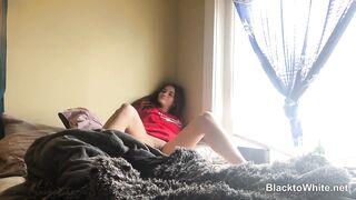 Hot white girl spreads her leg for Big Black Dick - Interracial Cuckold