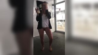 Bottomless dancing on a boat