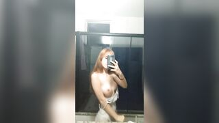 revealing my milky-soft 18year-old titties - Amateur
