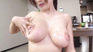 Cum splattered tits - Japanese