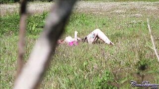 Jasmine James sunbathing slut