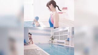 Pool dream. Nami Hoshino will satisfy everybody. - Japanese