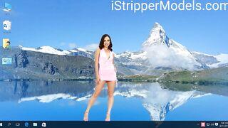 Pink Dress Striptease