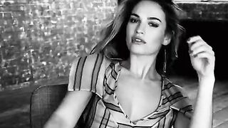 """Lily James and her """"come fuck me"""" eyes get me throbbing... - Celebs"""