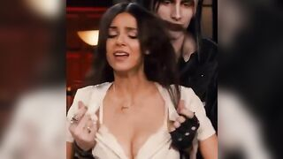Victoria Justice having her shirt ripped open before the blowbang - Celebs