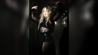 Sabrina Carpenter is about 10 years younger than me but I want to fuck Petite body and beautiful face so bad! - Celebs