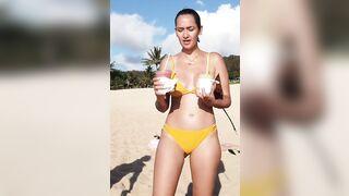 Kidding: Geo Yellow Bikini
