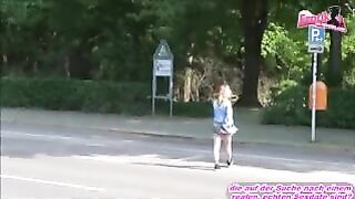 18 years old german amateur teen outdoor threesome - Just 18